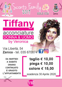 Tiffany acconciature - Sconto Family 2019 - Distretto Morus Alba